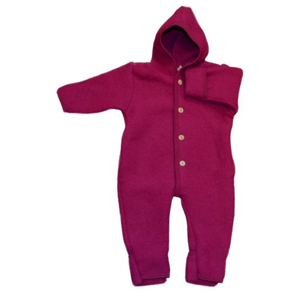 Engel Baby-Overall aus Wolle - Beere melange