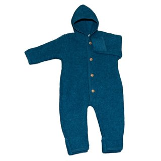 Engel Baby-Overall aus Wolle - Petrol Melange