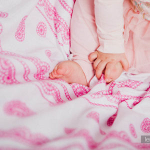 LennyLamb Swaddle Iced Lace Pink & Weiss