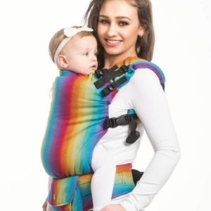LennyLamb Little Herringbone Rainbow Navy Blue LennyUp Carrier