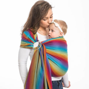 LennyLamb Little Herringbone Rainbow Navy Blue RingSling