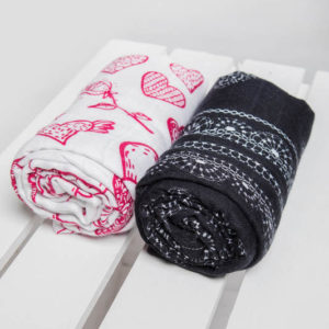 LennyLamb Swaddle Set Sweet Nothings & Glamorous Lace