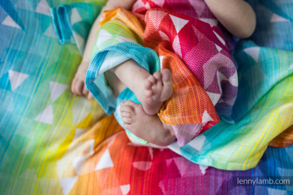 LennyLamb Swaddle Swallows Rainbow Light