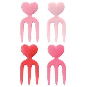 Bento Heart Fork Pick 12er Set Herz Mini Gabeln