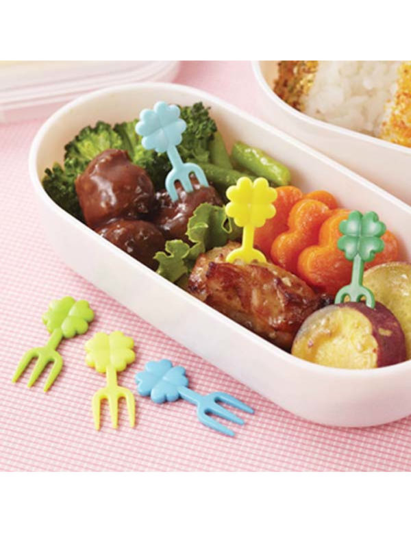 Bento Picks clover 12er Set Kleeblatt Mini Gabeln