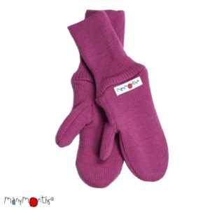 Manymonths Woll-Handschuhe (Mittens) Frosted Berry