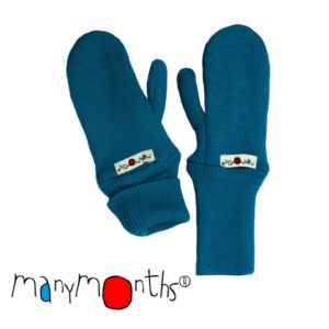 Manymonths Woll-Handschuhe (Mittens) - Royal Turquoise