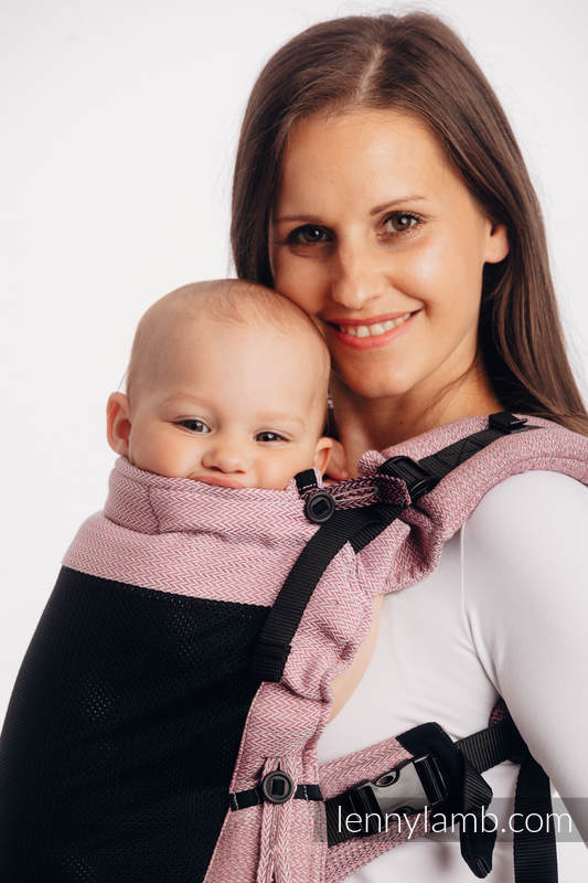 LennyUpGrade Mesh Carrier - Little Herringbone Ombre Pink