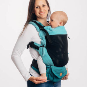 LennyUpGrade Mesh Carrier - Little Herringbone Ombre Teal