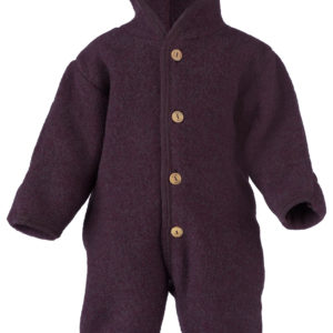 Engel Baby-Overall aus Wolle - Lila Melange