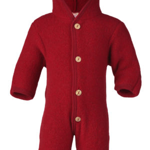 Engel Baby-Overall aus Wolle - Rot Melange