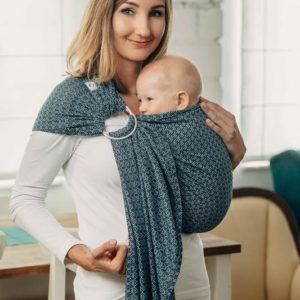 LennyLamb RingSling - Little Love Ocean Blue