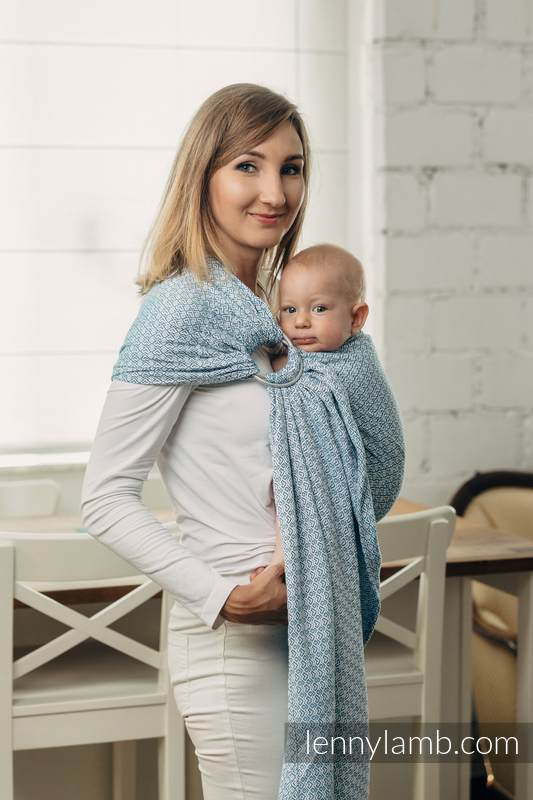 LennyLamb RingSling - Little Love Sky Blue