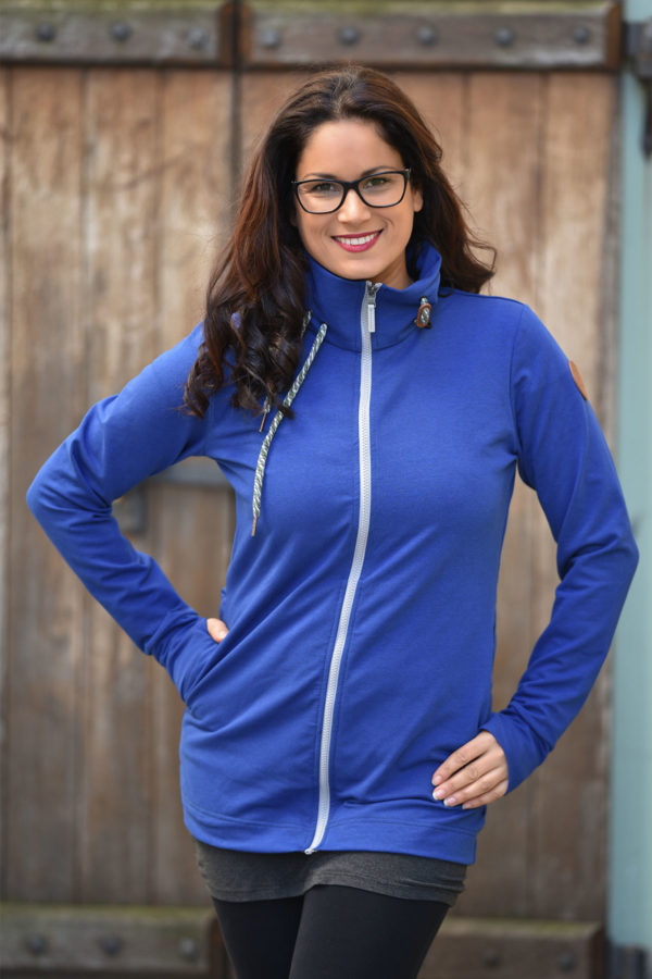 Angel wings Sweatjacke - Cobalt