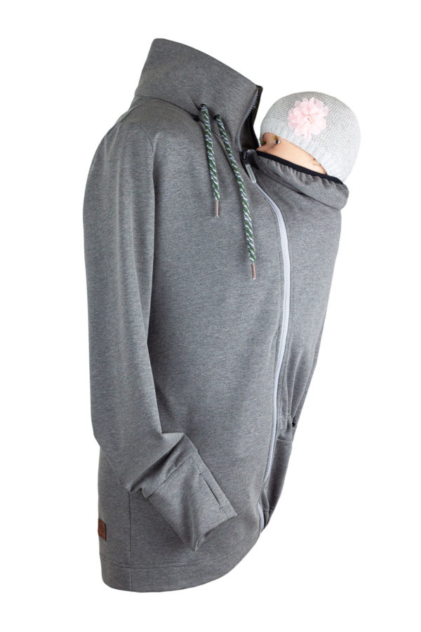 Angel wings Sweatjacke - Grau Melange
