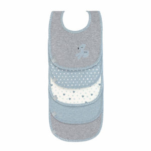 LÄSSIG Lätzchen 5er Set - Lela Light Blue